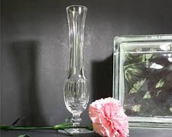 Vintage Waterford Crystal Vases Footed Bud Vase Etsy