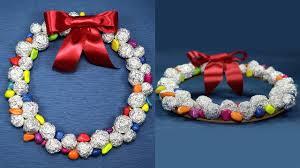 christmas wreath with cardboard and aluminium foil diy christmas