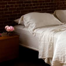 top bed sheets ivory pure linen fitted top sheets pillow shams pillowcases