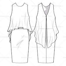 women u0027s flowy dress fashion flat template u2013 illustrator stuff