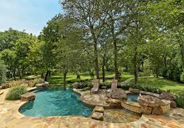 exterior design mediterranean pool design with travertine tile