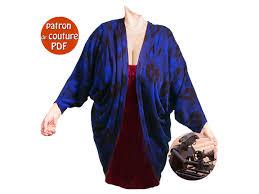 patron veste kimono patron de couture pdf veste drapée pour dames taille universelle