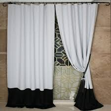 Black White Gray Curtains Custom Black And White Solid Bedroom Curtains