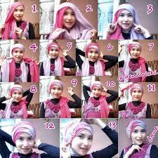 tutorial jilbab segi 4 untuk kebaya tutorial hijab cara memakai jilbab untuk acara wisuda