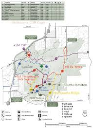 Brown Recluse Map Charles M Christiansen Trail 100 U2022 Hiking U2022 Arizona