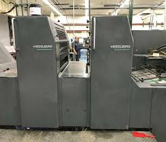 lot 20 1995 heidelberg speedmaster 74 2p two color press with uv