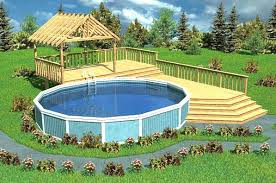 Above Ground Pool Design Ideas Pool Decks For Inground Pools Wooden Pool Decks For Above Ground
