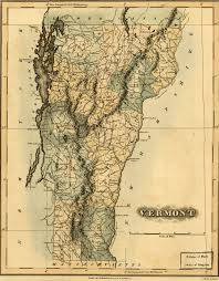 Map Vermont Vermont Genealogy Resources Map Of Vermont In 1820