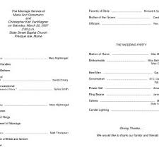 wedding ceremony program sle fresh invitation program sle bitfax co