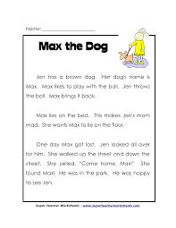 9th Grade Reading Comprehension Worksheets Worksheet Reading Comprehension 1st Grade Printables Wosenly