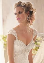 cap sleeve wedding dress detachable cap sleeves with beading and embroidery style 11052