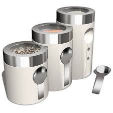 Designer Kitchen Canister Sets by Stainless Steel Kitchen Canisters Red Ceramic Canisters