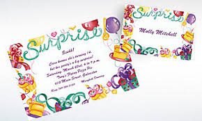custom surprise birthday invitations surprise party invitations