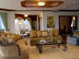 mediterranean designs mediterranean living room with cozy brown sofa and artistic