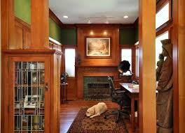 Wainscoting Office Mission Style Decorating A Way To Capture Beauty And Warmth To