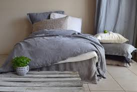 Heavy Duvet Dove Grey Natural Linen Quilt Cover