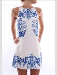 dress blue white dress cute dress light blue funny summer