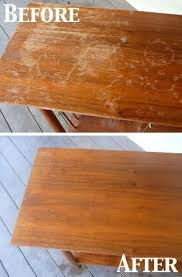 how to clean wood table with vinegar 1 4 cup vinegar 3 4 cup olive oil wood scratch fix by proteamundi