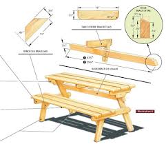 diy folding picnic table plans home design ideas
