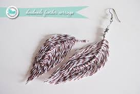 how to make feather earrings with handmade feather tutorial infarrantly creative