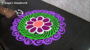 free hand rangoli design color rangoli design flower rangoli