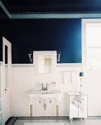 Navy Blue Bathroom by Bathroom Breathtaking Blue Wainscoting Bathroom Decoration With