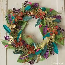 make a boho botanical paper wreath easy home decor
