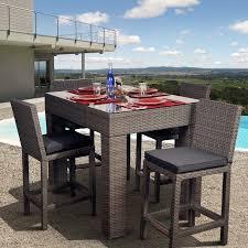 Outdoor Patio Furniture Bar Height Patio Dining Sets Bar Height Minimalist Pixelmari Com
