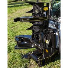 m u0026m hydra clip tree shear with grapple attachment skid steer