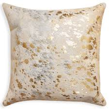 Cowhide Home Decor by Cowhide Metallic Throw Pillow Modern Décor U0026 Pillows Jonathan