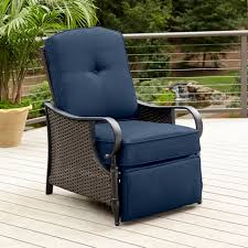 Sears Patio Furniture Replacement Cushions by La Z Boy Outdoor Kayla Recliner Blue