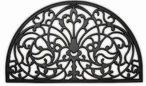 Wrought Iron Rubber Doormat Wrought Cast Iron Efeect Rubber Doormat Traditional Entrance