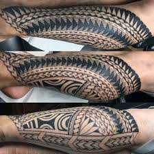 cool polynesian tribal male leg tatto ideas pacific islanders