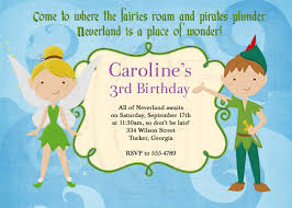 Birthday Invitation Cards For Friends Peter Pan And Tinkerbell Inspired Birthday Invitation Digital File