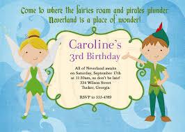 Invite Birthday Card Peter Pan And Tinkerbell Inspired Birthday Invitation Digital File