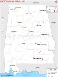 Map Of Usa Capitals by Where Is Enterprise Located In Alabama Usa
