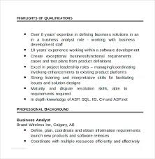 Resume Template Business Analyst Sample Business Analyst Resume 8 Documents In Pdf Word