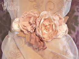Wedding Dress Sashes Rustic Beaded Floral Wedding Gown Sash Sew4home