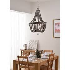 wood bead chandelier wayfair