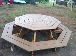 Ana White Preschool Picnic Table Diy Projects by Trex Octagonal Picnic Table Do It Yourself Home Projects From