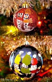 fingerprint snowmen ornaments ornaments for