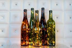 how to make a wine bottle l recycled wine bottle light wine bottle l wine decor wine
