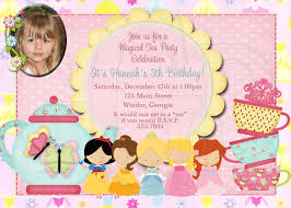 princess tea party invitation wording oxsvitation com