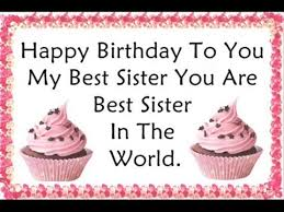 Wishing Happy Birthday To Happy Birthday Quotes Wishes For Sister Youtube