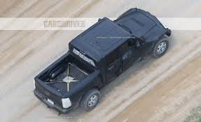 jeep truck spy photos 2018 jeep wrangler pickup spy photos news car and driver