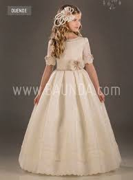 communion dresses baunda silk communion dress valeria 2018 model duende madrid and