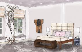 interior design bedroom drawing popular concept apartment fresh on