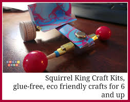 squirrel king craft kits glue free eco friendly crafts for 6 and up
