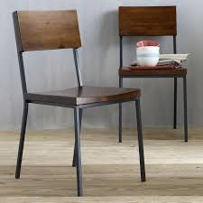 Rustic Industrial Dining Chairs Marvelous Metal Dining Chair Industrial Industrial Metal Wood