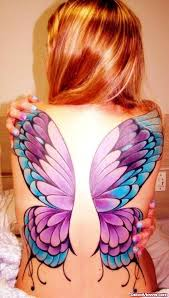 butterfly wings tattoos on back viewer com